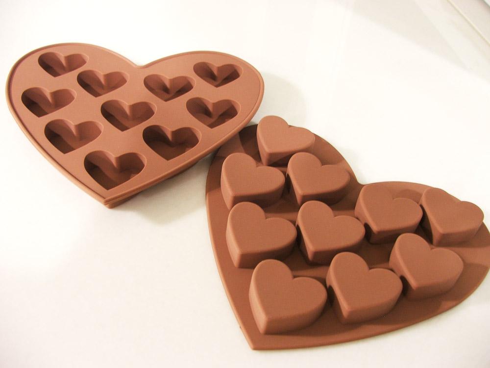 พิมพ์ซิลิโคนทำช็อกโกแล็ตรูปหัวใจ