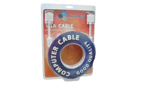 Cable RGB M/M 3+6 (3M) Gold Three Boy