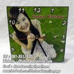 004-นาฬิกาสี่เหลี่ยม 8x8 นิ้ว กรอบลอย-
