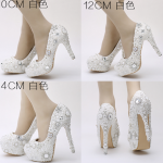 รองเท้าเจ้าสาวประดับมุขสวยหรู ไซต์ 34-39 สูง 4,4.8,5.6