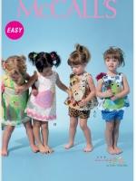 แพทเทิร์นตัดชุดเด็กหญิง พร้อมลาบแอพลิเคว่ Mccalls 6541 Size: NB-S-M-L-XL