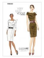 แพทเทิร์นตัดเดรสสตรี มีแขน Vogue 8630 ไซส์ปกติ Size: 6-8-10-12 (อก 30.5-34 นิ้ว)