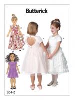 แพทเทิร์นตัดชุดเดรสเด็กหญิง Butterick 6445CL size: 6-7-8 ขวบ
