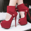 รองเท้าส้นสูง ไซต์ 34-39 สีดำ/แดง/เทา/เขียว thumbnail 4