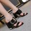 รองเท้าส้นหนาแบบสวมสีนู๊ด/ดำ ไซต์ 34-40 thumbnail 6