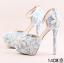 รองเท้าเจ้าสาว ไซต์ 34-39 สีฟ้า สูง 3.6 / 4.8 / 5.6 นิ้ว thumbnail 10