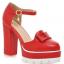 รองเท้าส้นสูงสีแดง/ครีม/ขาว/ดำ ไซต์ 34-39 thumbnail 11