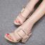 รองเท้าส้นหนาแบบสวมสีนู๊ด/ดำ ไซต์ 34-40 thumbnail 4