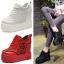 รองเท้าผ้าใบเสริมส้นสีแดง/ดำ/ขาว ไซต์ 34-39 thumbnail 1