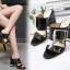 รองเท้าส้นหนาแบบสวมสีนู๊ด/ดำ ไซต์ 34-40 thumbnail 2