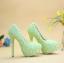 รองเท้าเจ้าสาว ไซต์ 34-41 สีม่วง สีเขียว ส้นสูง 8,11,14 ซม. thumbnail 5