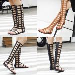 รองเท้าส้นแบน ไซต์ 35-40 สีดำ/น้ำตาล