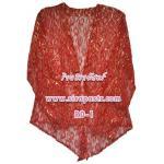 เสื้อคลุมลูกไม้ใต้-สีแดง *size-M