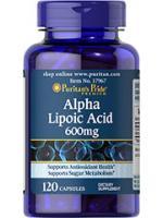 Alpha Lipoic Acid 600 mg 120 Capsules. ALA ชะลอวัย ต้านอนุมูลอิสระ เร่งขาวเมื่อทานคู่กลูต้า