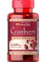 Puritan's Pride Triple Strength Cranberry Fruit Concentrate with C & E 12600 mg 100 Softgels. แครนเบอรี่สกัดเข้มข้น แก้ปัญหาเชื้อราและแบคทีเรียในช่องคลอด และทางเดินปัสสาวะ ดูแลจุดซ่อนเร้นให้สะอาด