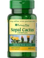 Puritan Nopal Prickly Pear Cactus 200 mg Complex 60 Tablets สารสกัดกระบองเพชรและPsyllium Hus ช่วยดักจับไขมัน อิ่มเร็ว
