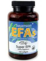 Swanson EFAs Super EPA Fish Oil 100 Softgels บำรุงสมอง หัวใจ หลอดเลือด โดยมี EPA และ DHA สูงสุด