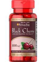 Puritan Black Cherry 1000mg 100 Capsule รักษาเก๊าต์ อาการข้ออักเสบปวดบวมตามข้อ ช่วยต้านอนุมูลอิสระ บำรุงผิวพรรณเปล่งปลั่งสดใส