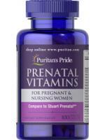 Puritan's Pride Prenatal Vitamins 100 Caplets วิตามินสำหรับผู้เตรียมพร้อมตั้งครรภ์ วิตามินเพื่อคุณแม่ตั้งครรภ์และให้นมบุตร