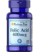 Puritan Folic Acid 400mcg 250 Tablets โฟเลตสำหรับผู้หญิงตั้งครรภ์