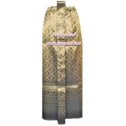 ผ้าถุงป้าย-หน้านาง B1-4 สีทองขมิ้น (เอวใส่ได้ถึง 25-27 นิ้ว) *แบบสำเร็จรูป-รายละเอียดตามหน้าสินค้า