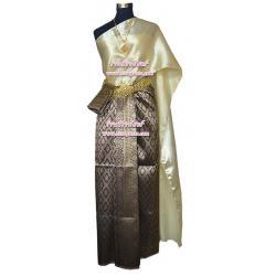 ชุดผ้าไทย BB สีม่วง (สไบ+ผ้าฯยาว 4 หลา*แบบจับสด) รายละเอียดในหน้าสินค้า