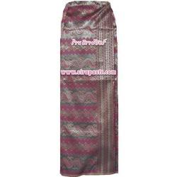 """ผ้าถุงป้ายฯ-พม่า D1 สีเลือดหมู (เอวใส่ได้ถึง 38"""") *รายละเอียดตามหน้าสินค้า"""