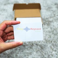 บัตรคีย์การ์ด(เเบบบาง) PVC สีขาว