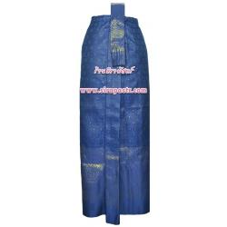 ผ้าถุงป้าย-หน้านาง B1-3B สีน้ำเงิน (เอวใส่ได้ถึง 28 นิ้ว) *แบบสำเร็จรูป-รายละเอียดตามหน้าสินค้า