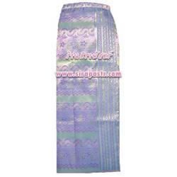 """ผ้าถุง-พม่า สีม่วง-เขียว (เอวใส่ได้ถึง 40"""") *รายละเอียดตามหน้าสินค้า"""