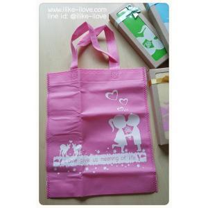 ถุงผ้าสปันบอลแพ็คกล่องน้ำตาล