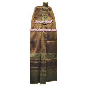 """ผ้าถุงป้าย-หน้านาง N1-2A สีน้ำตาล (เอวใส่ได้ถึง 28"""") *แบบสำเร็จรูป-รายละเอียดตามหน้าสินค้า"""