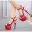 รองเท้าส้นสูง ไซต์ 34-40 สีดำ/แดง/ขาว thumbnail 5