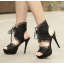 รองเท้าส้นสูงสีครีม/ดำ ไซต์ 34-38 thumbnail 5
