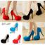 รองเท้าส้นสูง ไซต์ 34-40 สีดำ แดง ฟ้า thumbnail 1