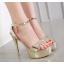 รองเท้าส้นสูงสีดำ/ทอง ไซต์ 34-39 thumbnail 5