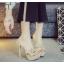 รองเท้าส้นสูงแบบสวมสีดำ/น้ำตาล ไซต์ 34-39 thumbnail 2