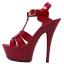 รองเท้าส้นสูง ไซต์ 35-40 สีดำ/แดง/ขาว thumbnail 11