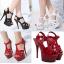 รองเท้าส้นสูง ไซต์ 35-40 สีดำ/แดง/ขาว thumbnail 1
