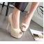รองเท้าคัดชูส้นสูงเปิดหน้าสีเหลือง/ชมพู/ฟ้า/ครีม/เขียวอ่อน ไซต์ 34-43 thumbnail 7