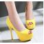 รองเท้าคัดชูส้นสูงเปิดหน้าสีเหลือง/ชมพู/ฟ้า/ครีม/เขียวอ่อน ไซต์ 34-43 thumbnail 10