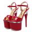 รองเท้าส้นสูง ไซต์ 34-40 สีดำ/แดง/ขาว thumbnail 10
