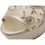 รองเท้าส้นสูงแต่งผ้าลูกไม้สวยสีเงิน/ทอง ไซต์ 34-39 thumbnail 4