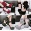 รองเท้าส้นสูง ไซต์ 34-39 สีดำ/แดง/เขียว/เทา thumbnail 1