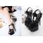 รองเท้าส้นสูง ไซต์ 35-40 สีดำ/แดง/ขาว thumbnail 3