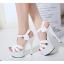 รองเท้าส้นสูง ไซต์ 35-40 สีดำ/แดง/ขาว thumbnail 6