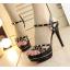 รองเท้าส้นสูงสีชมพู/ดำ ไซต์ 34-39 thumbnail 2