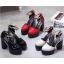 รองเท้าส้นสูงส้นหนาสีแดง/ดำ/ครีม ไซต์ 34-39 thumbnail 7