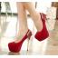 รองเท้าส้นสูงสีแดง/ดำ ไซต์ 34-39 thumbnail 6