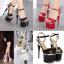 รองเท้าส้นสูง ไซต์ 34-40 สีดำ/แดง/ขาว thumbnail 1